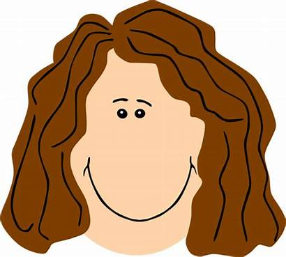 Clipart Face Mom Brown Hair Sad Mother