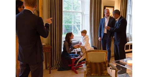 prince george meeting barack  michelle obama pictures