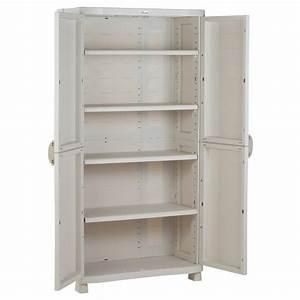 Armoire 90 Cm Largeur : armoire de rangement blanche plastiken 184x90x45 ~ Teatrodelosmanantiales.com Idées de Décoration