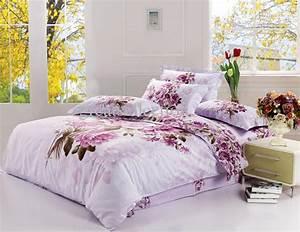 King Size Bettwäsche Maße : acheter new king size bedding set violet floral quilt cover bed sheet set pas consolateur ~ Indierocktalk.com Haus und Dekorationen