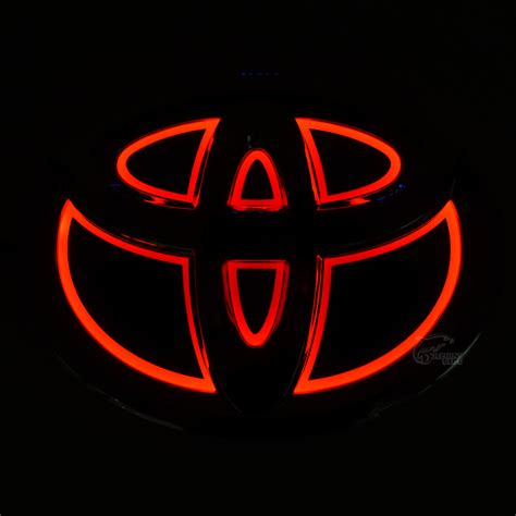 toyota corolla logo new car 5d rear front badge emblem logo light for