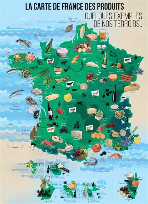cuisine et terroirs autour de la gastronomie carte de des produits