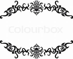 Abstract gothic vector frame for design use Stock Vector