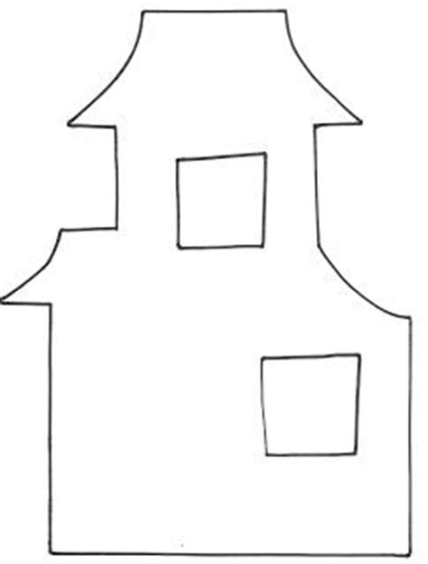 haunted house template 5 best images of printable house templates box house templates blank house template printable