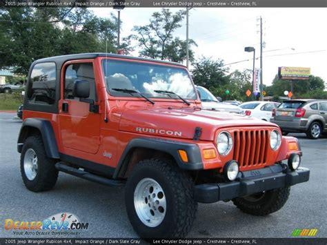 jeep rubicon orange 2005 jeep wrangler rubicon 4x4 impact orange dark slate
