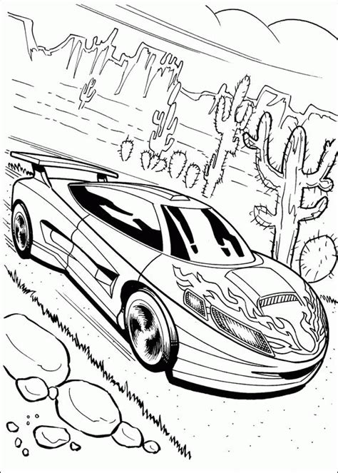 coloring page hot wheels coloring pages