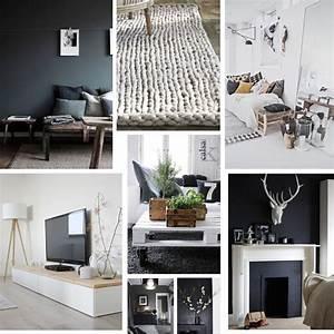 Salon Gris Et Bois : inspiration d co pour la future maison ~ Melissatoandfro.com Idées de Décoration