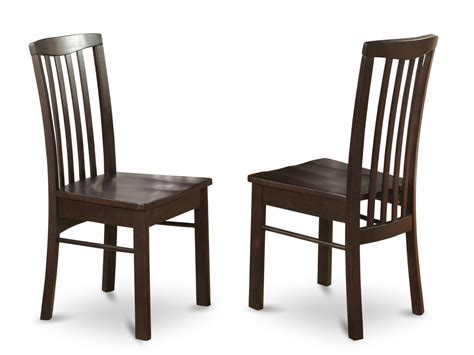 set of 2 hartland dining room chairs in black walnut finish