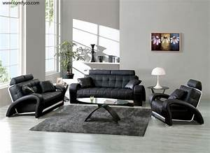 black leather sofa decorating ideas With black furniture living room ideas