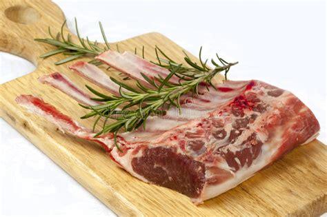 rack  lamb  rosemary stock photo image  herb