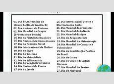 Blog Professor Zezinho Datas comemorativas de março