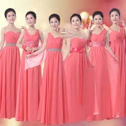 coral bridesmaid dresses aliexpress buy coral bridesmaid dress chiffon 6 different styles custom made vestidos