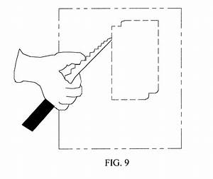 patent us6434848 template for scribbing electrical box With electrical outlet template