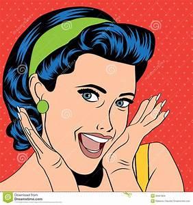 Popart Retro Woman In Comics Style Stock Vector - Image ...
