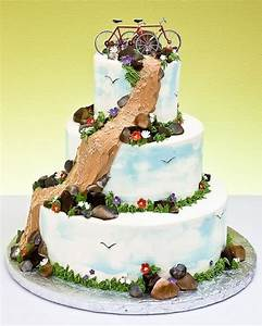 Mountain bike wedding cake Wedding + Bikes Pinterest