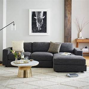tremendous concept west elm clark sleeper sofa best With modular sectional sofa west elm