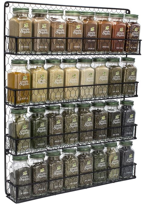 Organic Spice Rack by Simply Organic Gourmet Top 24 Spices Set