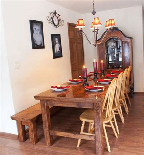 farmhouse table with bench 15 diy farmhouse table to create warm and inviting dining
