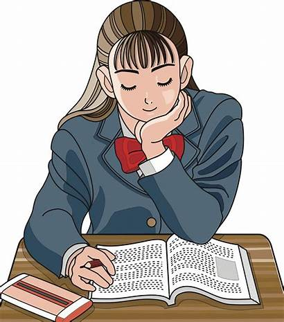 Studying Clipart Study Homework Schoolgirl Student Studium