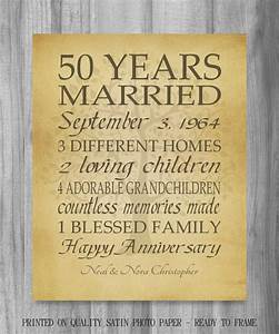 50th anniversary gift golden anniversary 50 years With 50th wedding anniversary gift for parents