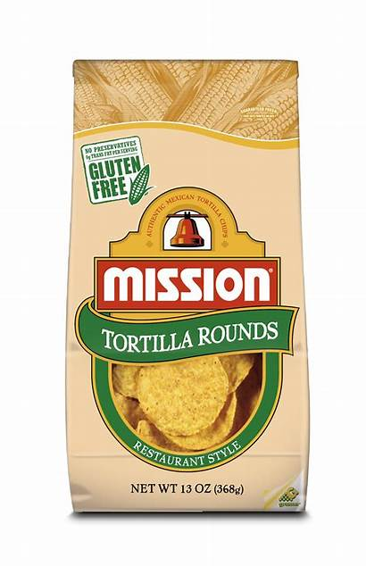 Corn Tortilla Mission Chips Round Yellow Bag