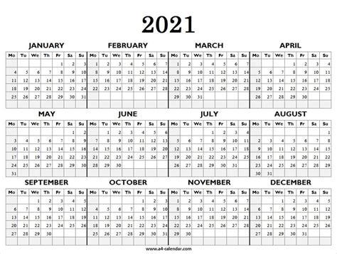 printable calendar  starting monday calendar