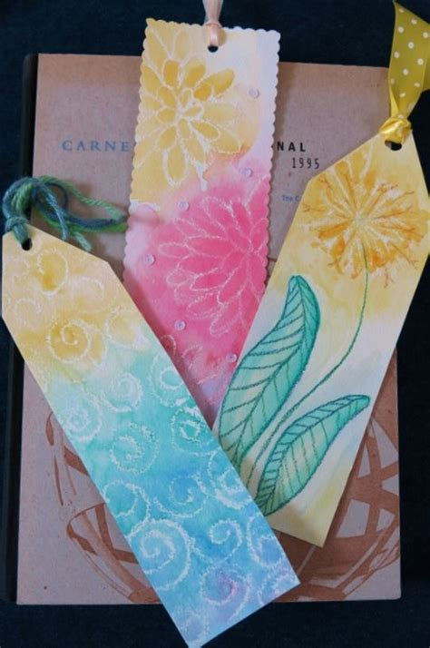 diy craft project how to make colorful bookmarks using