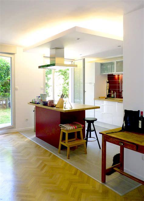 cuisine de jardin réaménagement appartement rez de chaussée jardin19ème