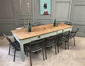 Ancienne Table De Ferme En Chne Massif