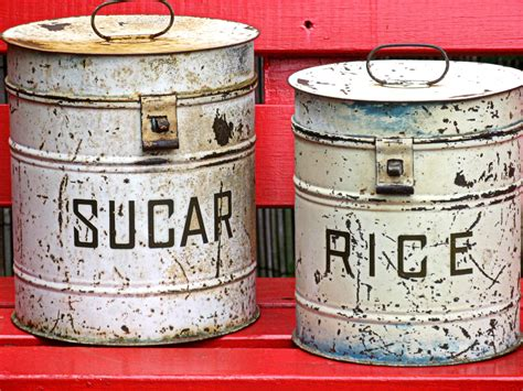 Vintage Kitchen Canisters by Hunted And Made Thrifting Time Vintage Kitchen