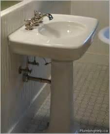 Replacing A Faucet On A Pedestal Sink by Installing A Pedestal Sink Plumbing Help