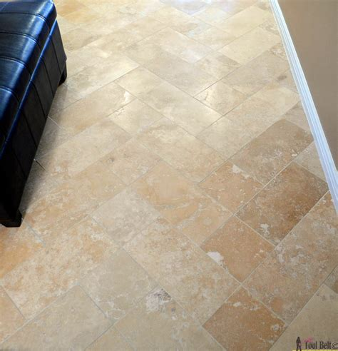 Travertine Tile On A Budget  Her Tool Belt