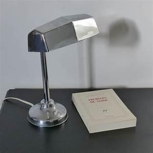 Objet Art Deco : lampe de bureau chrom e art d co lignedebrocante brocante en ligne chine pour vous meubles ~ Teatrodelosmanantiales.com Idées de Décoration
