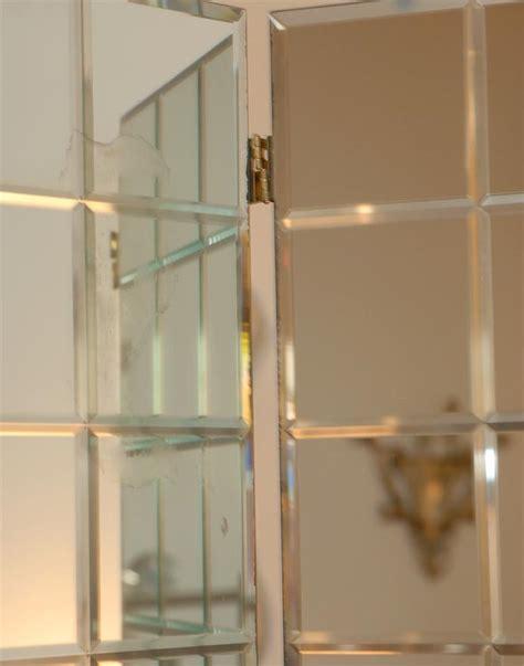 floor mirror panels three panel etched mirror floor screen at 1stdibs