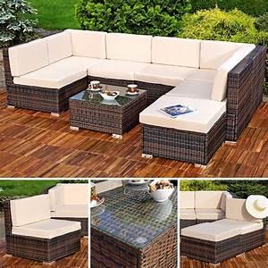 Polyrattan Sitzgruppe Braun : rattan sitzgruppe gartenm bel sitzgarnitur lounge real ~ Watch28wear.com Haus und Dekorationen