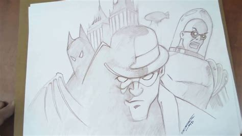 speed drawing batman  riddler  freeze batman