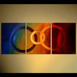 Red Blue Yellow Abstract Art Painting