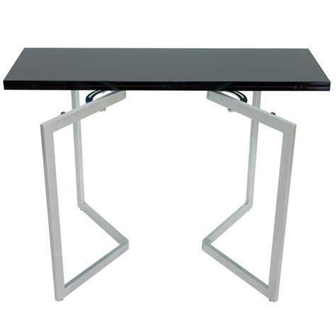 Table Console Mural Extensible Noir Xena Achatvente