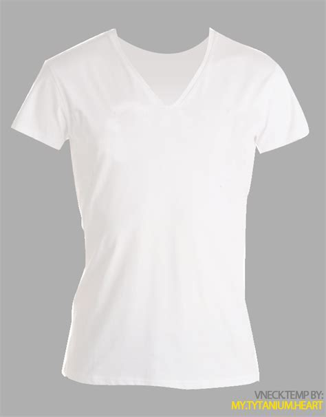 Collar T Shirt Template Psd by Revised V Neck Templated Psd By My Tytanium On