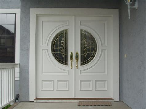 Mesmerizing Double Front Doors For Homes With Light Oak Double Front Door Including Black Small