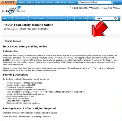 haccp cuisine learn2serve haccp food safety coupon code
