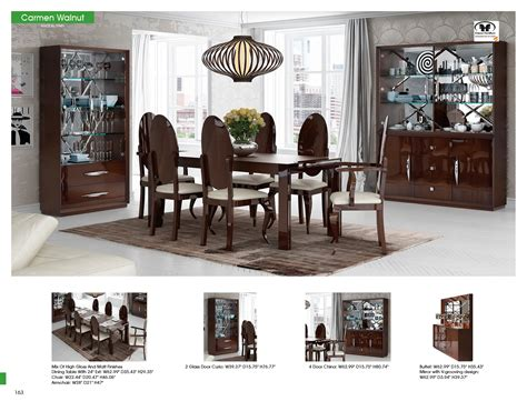 carmen walnut dining room modern formal dining sets