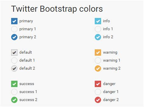 pure css checkbox radio button replacement for bootstrap