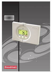 Goodman Mfg Thermostat Tstatg2111 User Guide