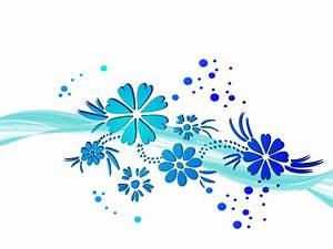 Blue Flower clipart border - Pencil and in color blue ...