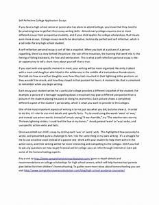 Self Reflective College Application Essays