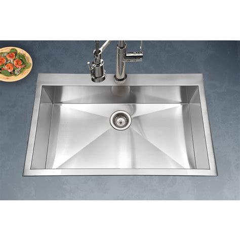 houzer kitchen sink 33 quot stainless steel kitchen sink zero radius and 12 1714