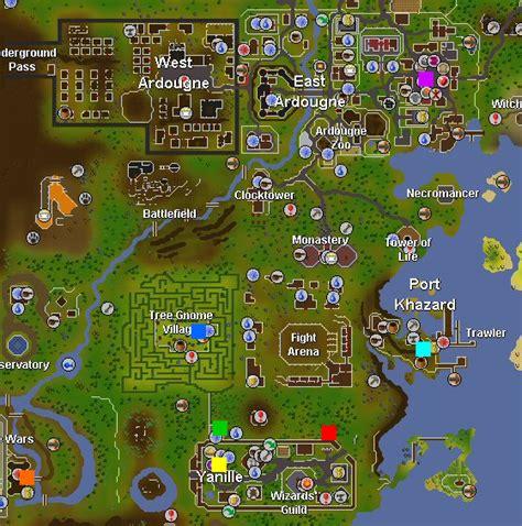 osrs nmz runescape yanille nightmare zone magic guide training khazard port portal map ardougne 2007 tree watchtower castle wars game