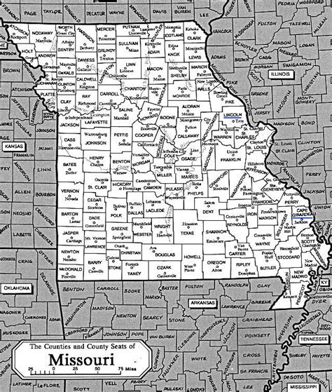 county map  missouri