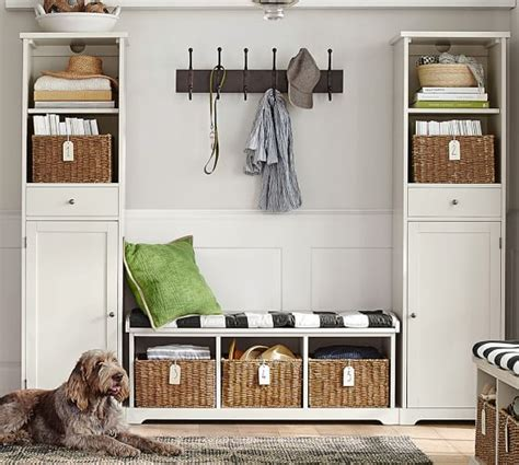 pottery barn entryway 3 bench storage tower entryway set